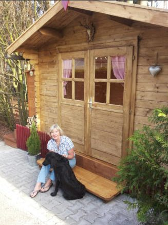 Frau Franke mit Hund Ludwig